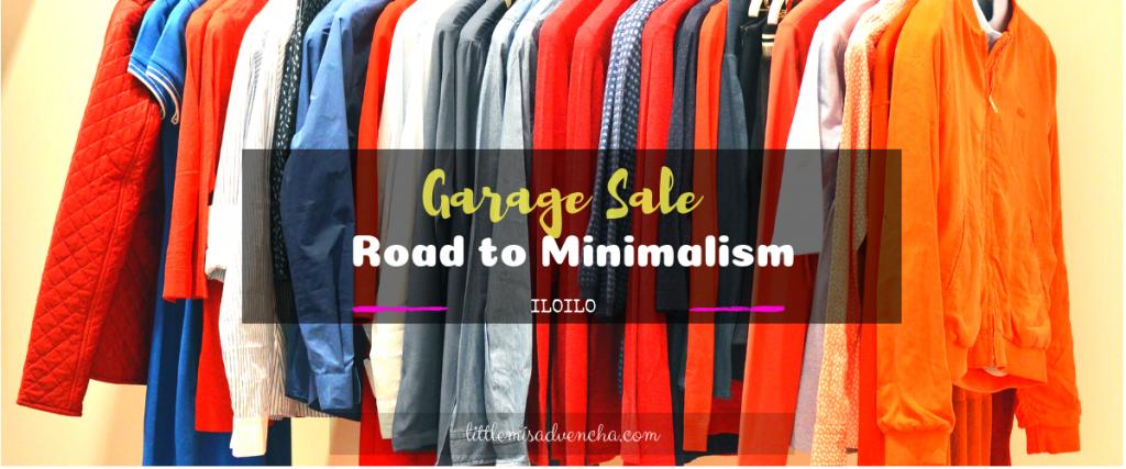 garage sale and minimalism littlemisadvencha