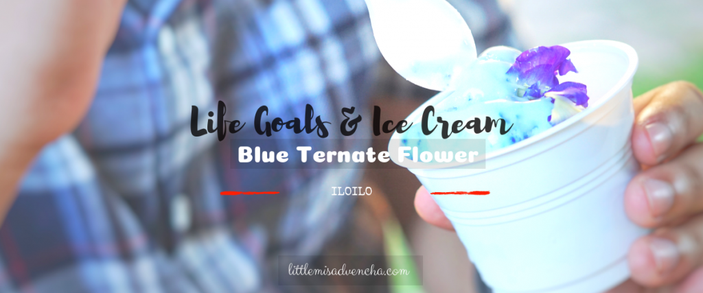 Blue Ternate Flower Ice Cream at Molo Mansion Cafe